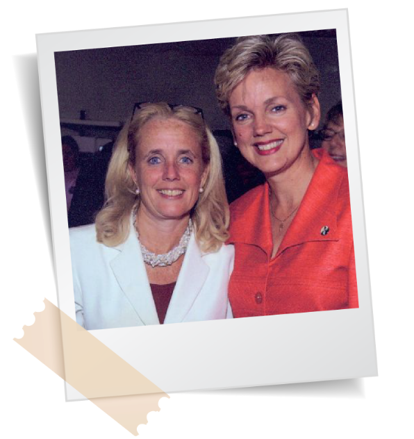 Debbie Dingell and Jennifer Granholm